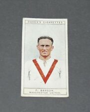 CIGARETTES CARD OGDEN'S 1926 FOOTBALL CAPTAINS 24 BARSON MANCHESTER UNITED