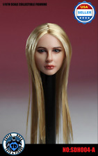 ❶IN STOCK❶1/6 scale Chloe Moretz Head Sculpt w/ Straight Long Blonde hair