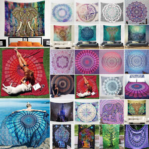 Wall Hanging Tapestry Mandala Hippie Bedspread Throw Round Blanket Beach Cover
