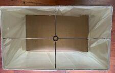 Off white rectangle hard back lamp shade 17x10x11