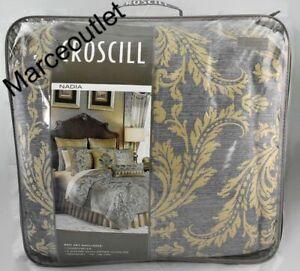 Croscill Home Nadia 4 Piece KING Comforter Set Light Gray