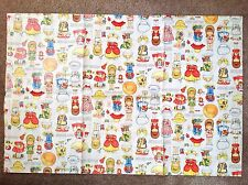 Vintage Joan Walsh Anglund Paper Doll Gift Wrap, 1 Full Sheet, 1970's Hallmark