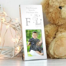 Personalised Engraved Hessian Giraffe 2x3 Photo Frame, New Baby, Christening