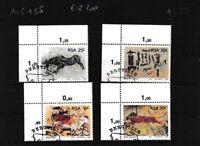 Südafrika 706-709 (kompl.Ausg.) gestempelt Eckrandstücke