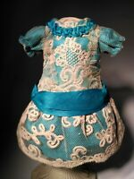 Beautiful silk Bebe doll dress,  German/French antique doll