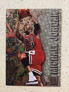 1996-97 Fleer Metal Michael Jordan Rare Premium Embossed Foil Card #11 🔥