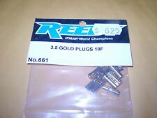 REEDY 3.5 GOLD PLUGS 10F 661 NEW NIP