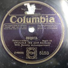 78rpm UKELELE IKE - CLIFF EDWARDS chiquita / all of the time