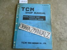 Nissan TCM Forklift H2O Gas Engine Shop Service Manual