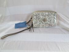 Simply Vera Wang Metallic Snakeskin Zip Closure Wristlet Bag Small Purse NWT $49