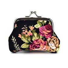 Women Coin Purse Flower Printing Ladies  Pocket Coin Pouch Key Credi<w