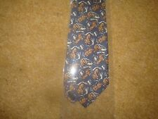 Tintin Tie - Snowy and the Lion from Tintin in the Congo - Blue  - New