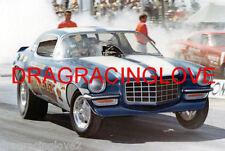 "Malcolm Durham ""Strip Blazer"" 1970 Chevy Camaro NITRO Funny Car PHOTO!"