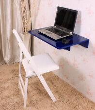 SoBuy Folding Wood Wall-mounted Drop-leaf Table Desk, 60x40cm, FWT03-B, Blue, UK