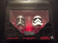 Star Wars Titanium Black Series nip Captain Phasma Stormtrooper Helmets 02
