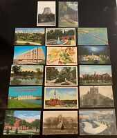 Lot of 16 Original Vintage Postcards - Delaware, Devil's Tower RPPC, Dakota+