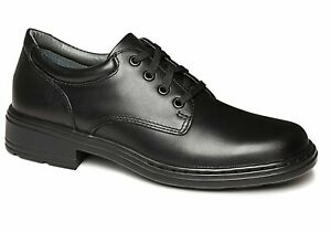 Clarks Infinity Senior Black Leather School Shoes Comfortable/Lace Ups