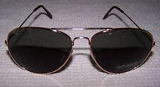 LUCKY BRAND D918 Aviator CAT 3 Sunglasses GOLD/GREEN ~ NEW