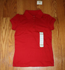 NWT Girls ARROW Red School Uniform Polo Shirt Size M Medium 8-10