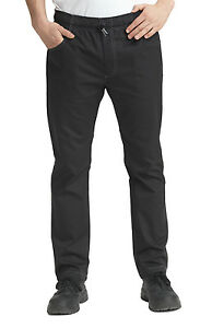 Dennys Le Chef Prep Trousers - Black or Black Denim - Slim Leg Sizes XS-2XL