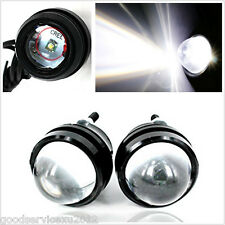 2 Pcs 5W Cree LED White Fisheye Lens Vehicles Daytime Fog Lights Projector Lamps