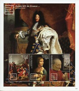 Antigua & Barbuda Art Stamps 2015 MNH World Famous Paintings Da Vinci 3v M/S II