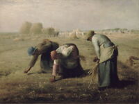 Jean Francois Millet The Gleaners Giclee Canvas Print Painting Poster LARGE SIZE
