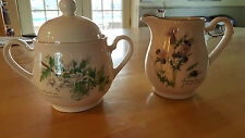 Noritake THE COUNTRY DIARY OF EDWARDIAN LADY Edith Holder- Sugar Bowl&Creamer