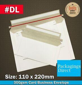 Card Mailer DL 220 x 110mm 300GSM Envelope DL Size Tough Bag Replacement