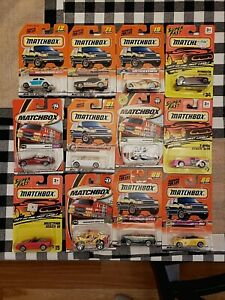 Lot of 12 Matchbox Cars Trucks 1994 1997 1998 1999 2000 2001  New in package