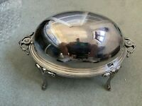 Antique Silver Plated Breakfast Roll Over Tureen
