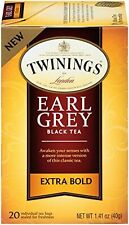 Twinings of London Earl Grey Black Extra Bold Tea Bags, 20 Count (Pack of 6)