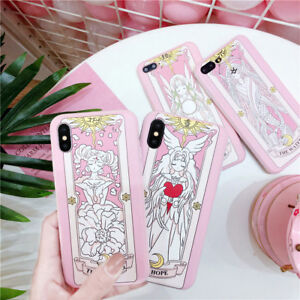 Anime Card Captor Sakura Soft Cell Phone Case Cover For iPhone 6/6s/6p/7/8/8p/X