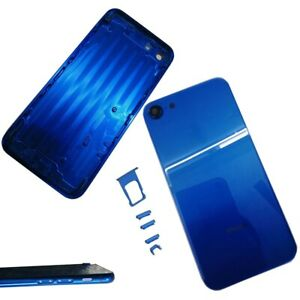 For iPhone 7 To iPhone 8 Blue Metal Back Housing Rear Battery Door Middle Frame