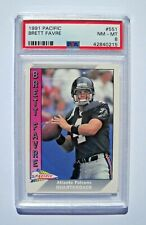 1991 Pacific Brett Favre PSA 8 Graded Rookie Card RC (Farve)