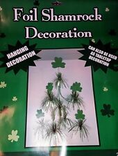 "St. Patrick's Day Hanging Tabletop Shamrock Decoration 26"" Long -New!"