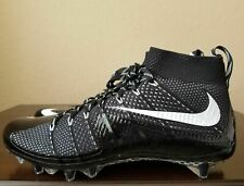 Nike Vapor Untouchable Flyknit Football Cleats 15 Black White 698833-010