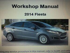 Ford Fiesta 2008-2014 Workshop Repair Service Manual Cd