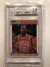 1987 Fleer Basketball Michael Jordan #59 - 2nd YEAR -   BGS 7.5 NRMT