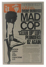 INTERNATIONAL TIMES No 95 1970 Mad Cop Bob Dylan Hell's Angels Oz magazine
