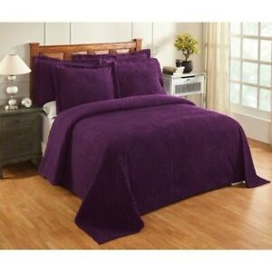 Better Trends Julian Collection Stripes Design Tufted Chenille TWIN Bedspread