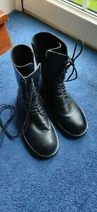 ANN DEMEULEMEESTER Leather combat boots Size 5