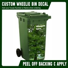 Wheelie Bin Vinyl Sticker Panel Oak Tree Design Bin Sticker Sheet