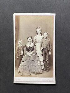 Victorian Carte De Visite CDV: Elegant Family: Morgan Aberystwyth