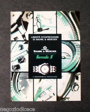 [GCG]  P491 - Advertising Pubblicità -1992- BAUME&MERCIER ,FORMULA S INESORABILE