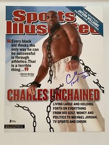 Charles Barkley autographed 11x14 photo Sports Illustrated cover Beckett bas