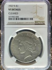 1927-S Peace Dollar - NGC VF Details Cleaned
