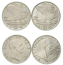 ITALIA Lotto 2 monete da 50 Centesimi 1939 XVII Antimagnetica e Ac - Ottime