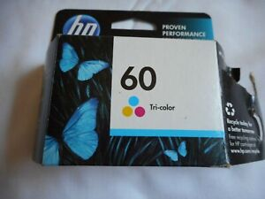 New Unopened HP 60 Tricolor Ink Cartridge OEM Exp Oct 2014