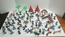VTG Lot Marx Timpo Recast Plastic Army & Indian lot with accessories